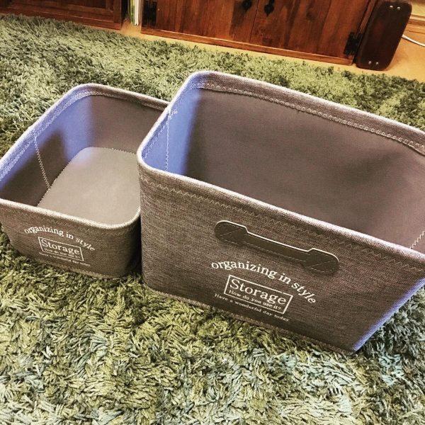 ダイソーの種類豊富な布製収納ボックス