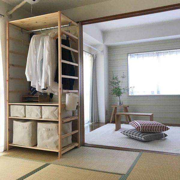 部屋が広々と見える和室の一人暮らし