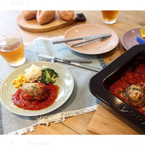 オーブンでトマト煮込みハンバーグ