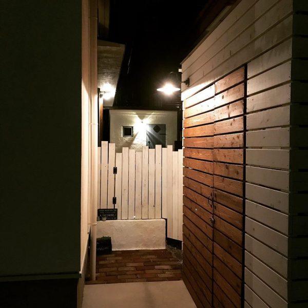 狭い庭 ガーデニング ライトアップ3