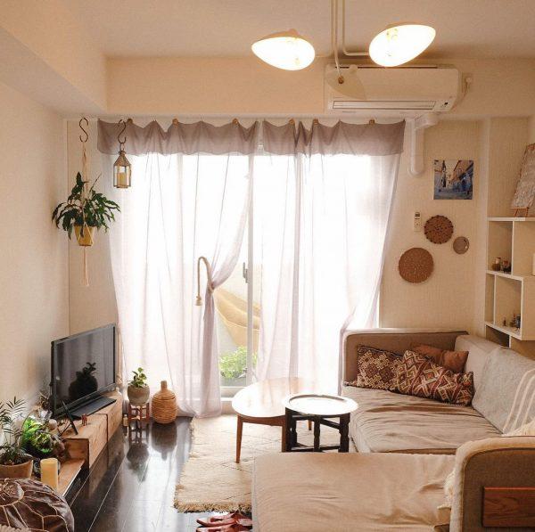 モロッコのイメージで6畳のリビング実例