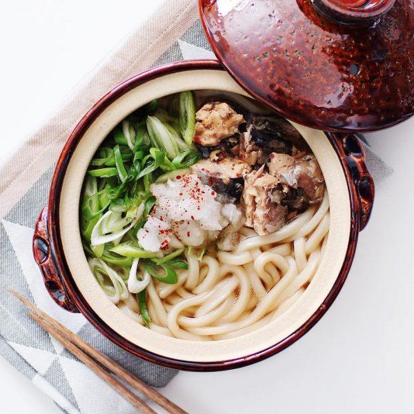 鯖缶鍋焼きうどんでお腹に優しい鍋料理
