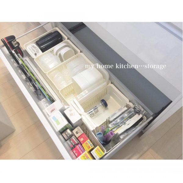 オープンキッチン 収納実例 調理器具・カトラリー