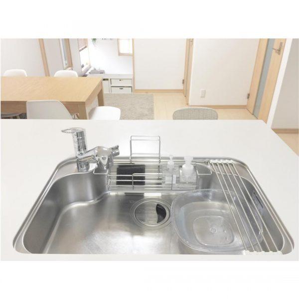 オープンキッチン 収納実例 水回り2