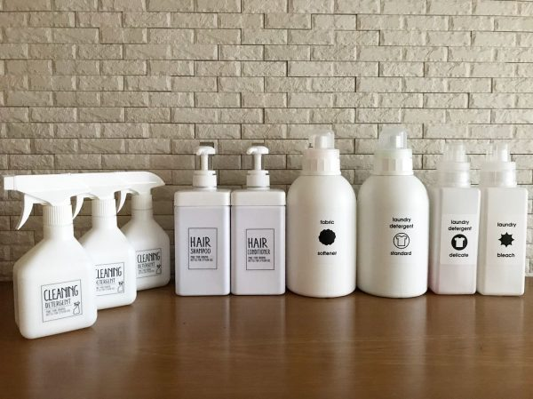 洗剤用ボトルを可愛く変身させるアイデア