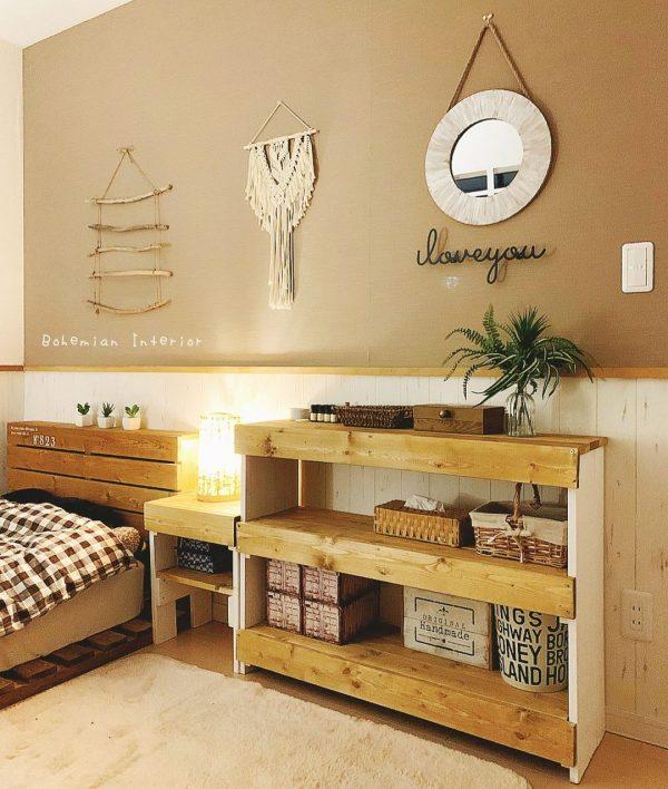 寝室 おしゃれ DIYアイデア2