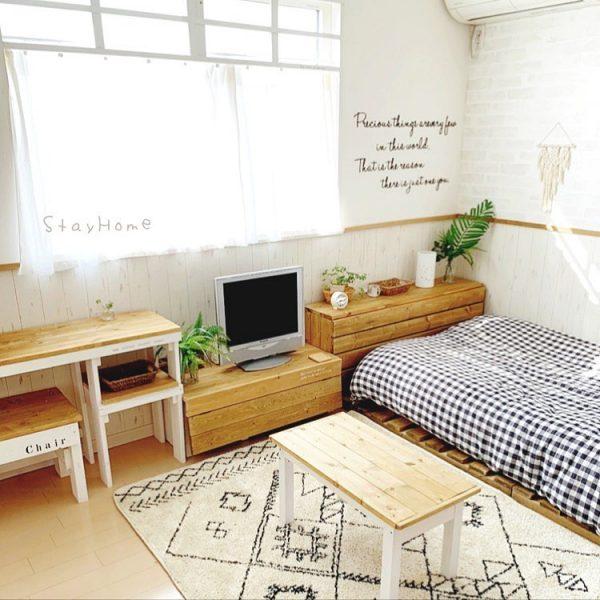 寝室 おしゃれ DIYアイデア5