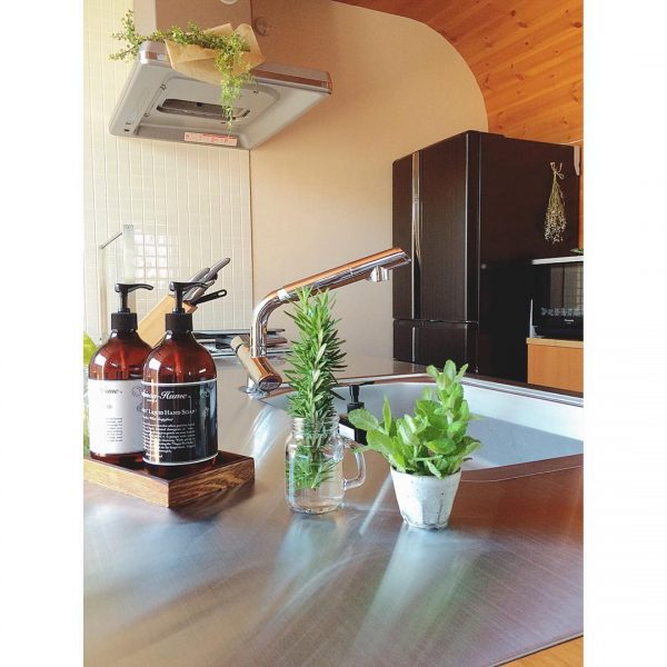 風水的にも◎料理に使えるハーブや観葉植物を置く