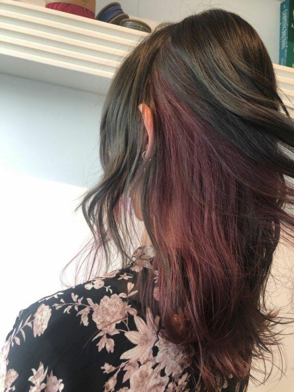 女っぽさ満点のピンクグラデーションカラー