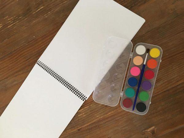 スケッチブック&水彩絵の具