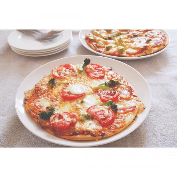 小麦粉で作るレシピでピザの朝ごはん