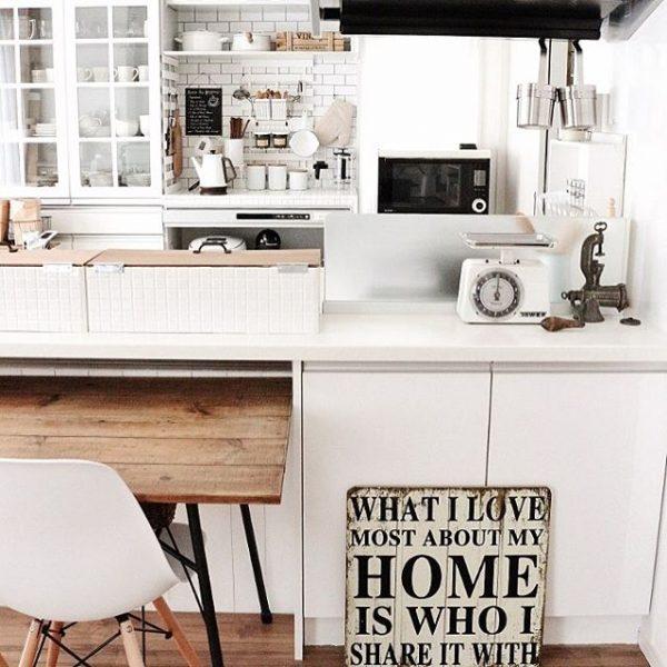 キッチン用品のスペースに置くレイアウト