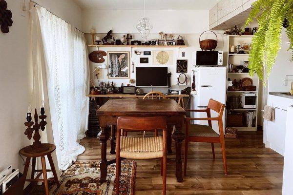 7畳向けダイニングキッチンレイアウト テーブル2
