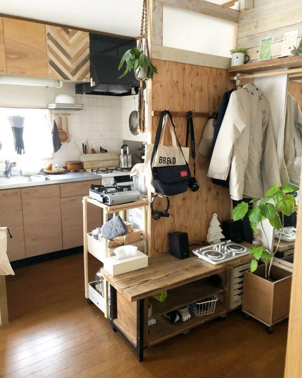 7畳向けダイニングキッチンレイアウト 収納家具