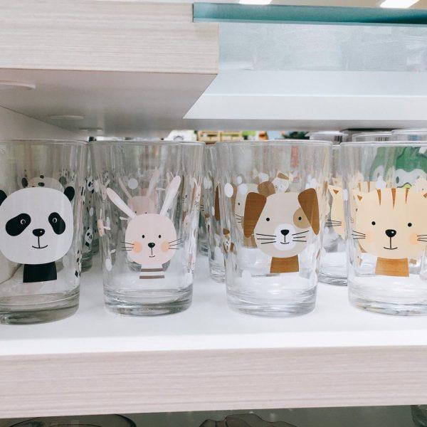 【セリア】ガラスコップもキュート