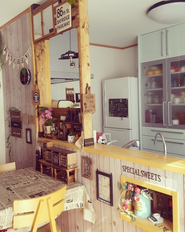 間仕切り食器棚