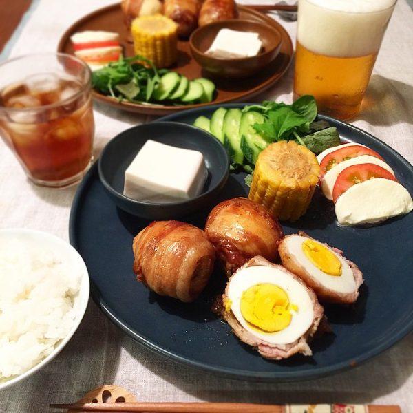 これは合う!茹で卵の肉巻き甘辛タレ