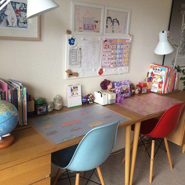 男女共に机をつけたおすすめ6畳の子供部屋