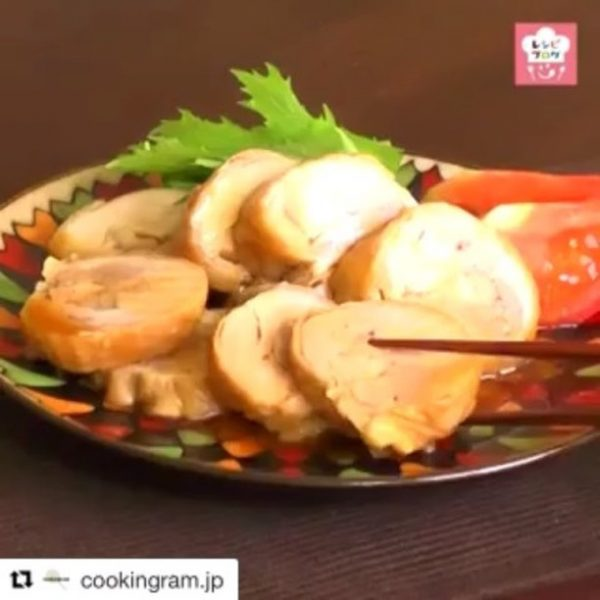 メイン料理に時短レシピの簡単鶏チャーシュー