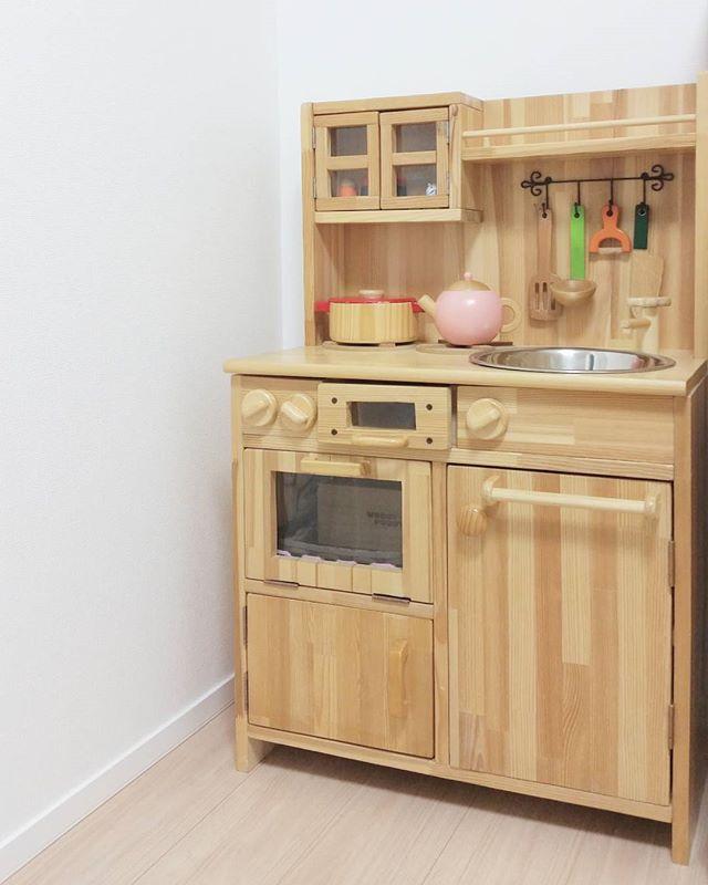 グリルやオーブンがついた手作りキッチン