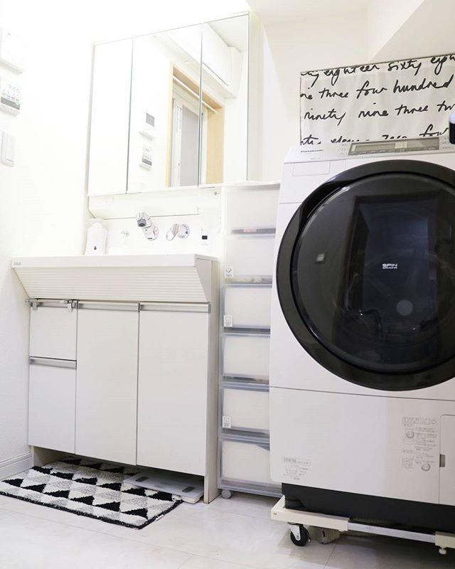 洗濯機横の収納アイデア