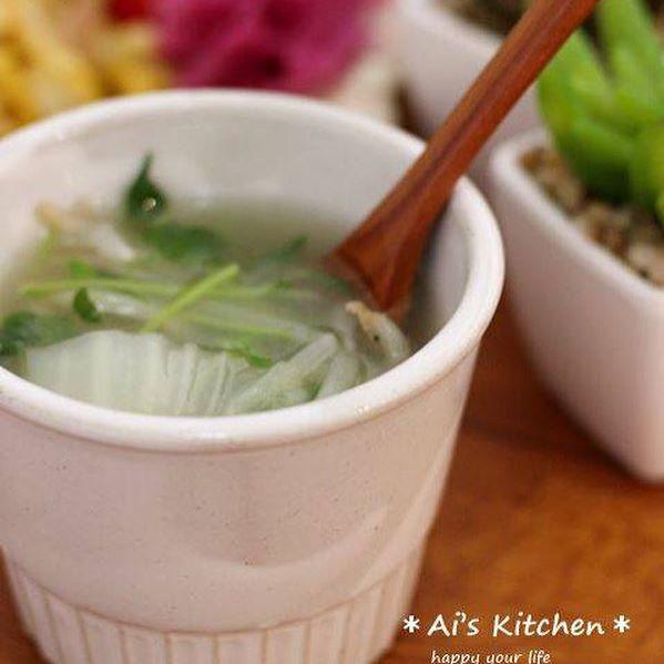 ほっこり温まる♪白菜スープ