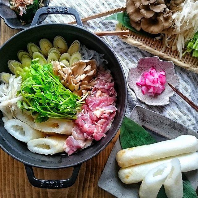 味染みきりたんぽ鍋で温かい夕飯を