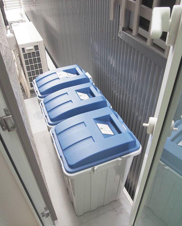 勝手口にゴミ箱置き場を配置したアイデア