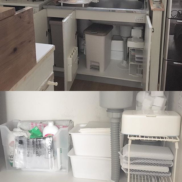 シンク下にゴミ箱を収納するアイデア