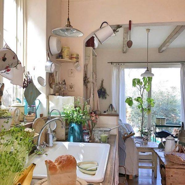 賑やかなキッチンは統一感が決め手