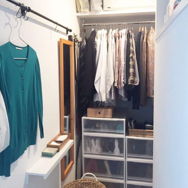 衣装ケースを活用したオープンクローゼット