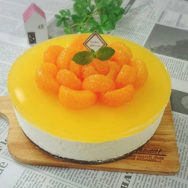 人気のアレンジレシピ!みかんのチーズケーキ