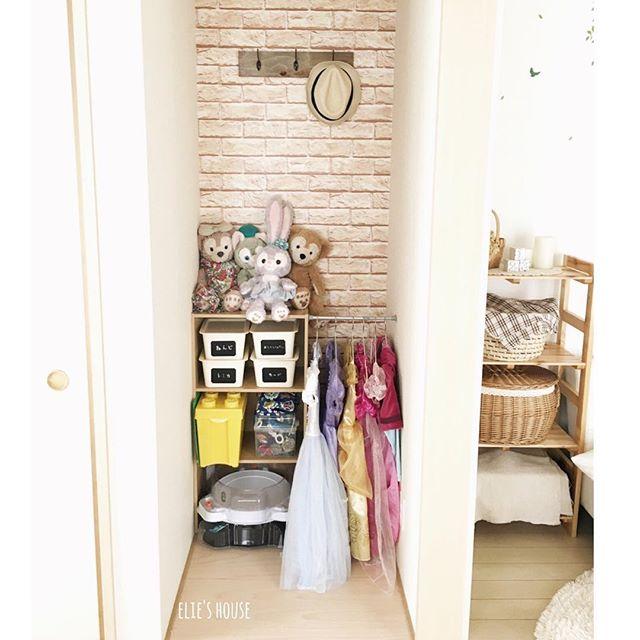 赤ちゃん服のカラーボックス収納2