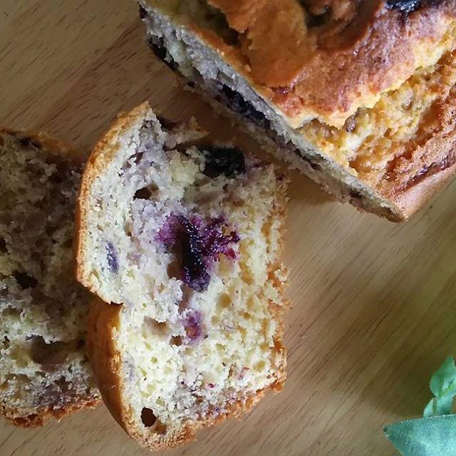 塩麹とブルーベリージャムのパウンドケーキ