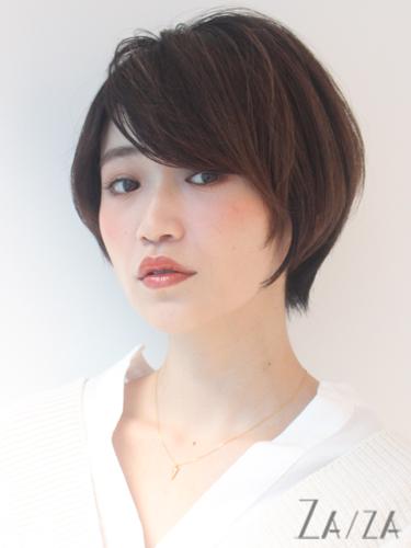 求心顔 髪型 ショート