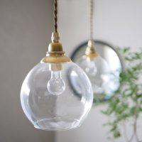ヴィンテージ感が漂うデザイン♪ガラス×真鍮の「ランプシェード」