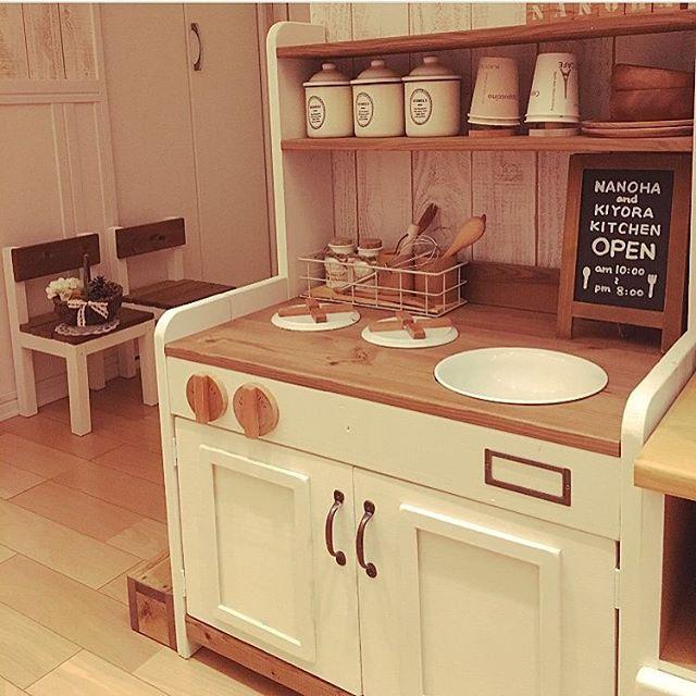 海外インテリアのような手作りキッチン