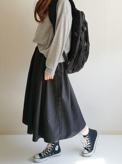 グレートップス×黒スカート