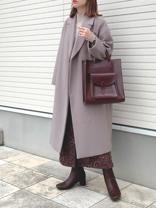 [210nouve] 【A4サイズ】ショルダー付ポケットトートバッグ