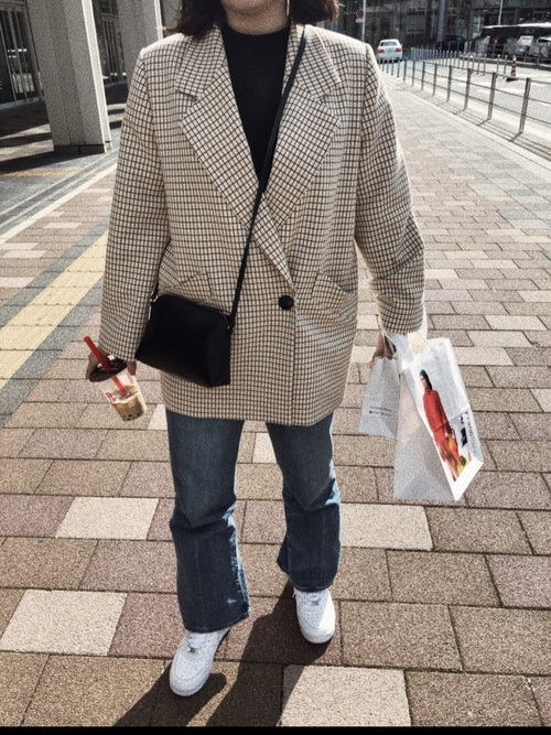 GU青デニム×ジャケット