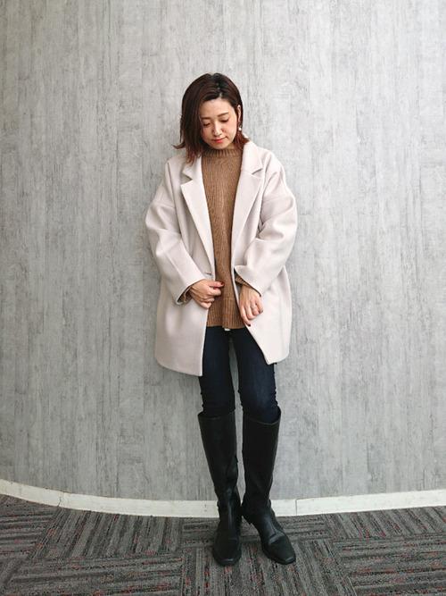 トレンドライクな冬のシンプルジャケットコーデ