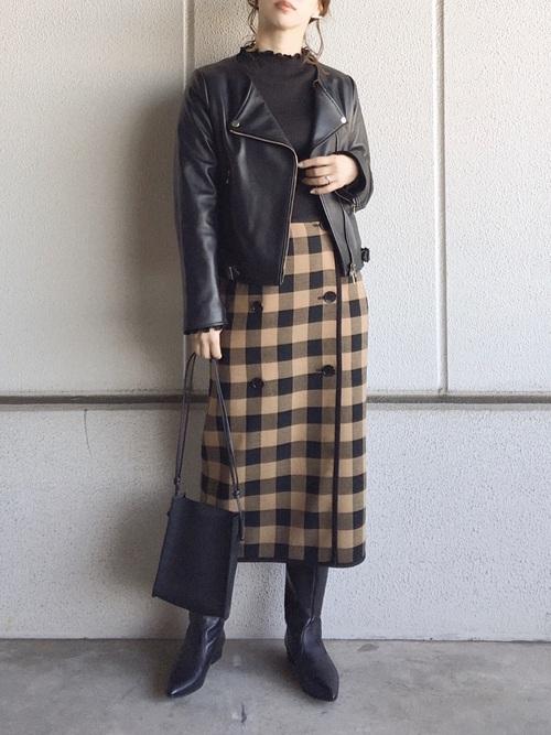 [BABYLONE] リバーシブルタイトスカート