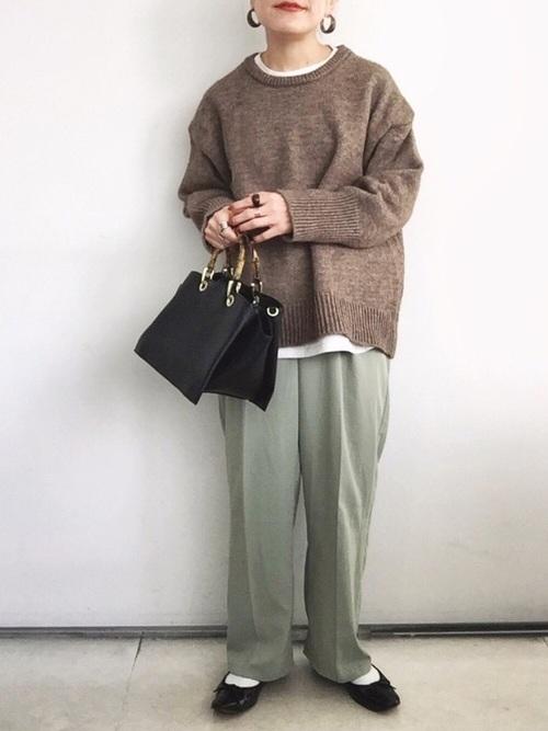 GUのバンブーハンドルバッグ