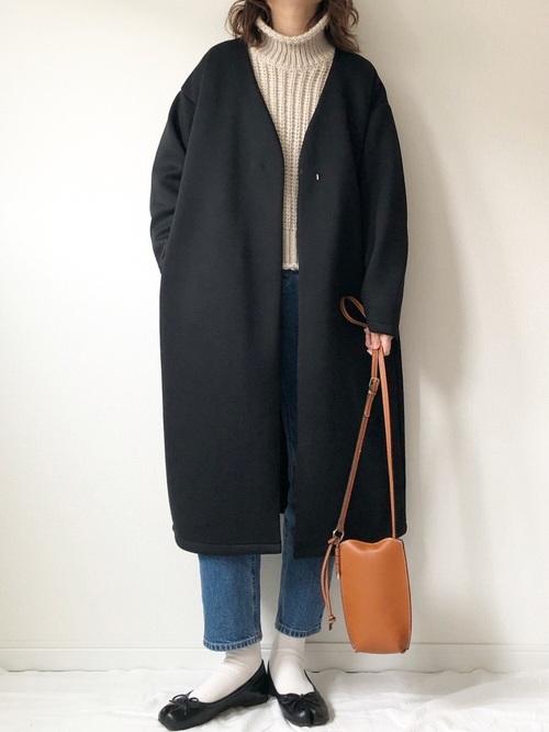 GUのノーカラーコート