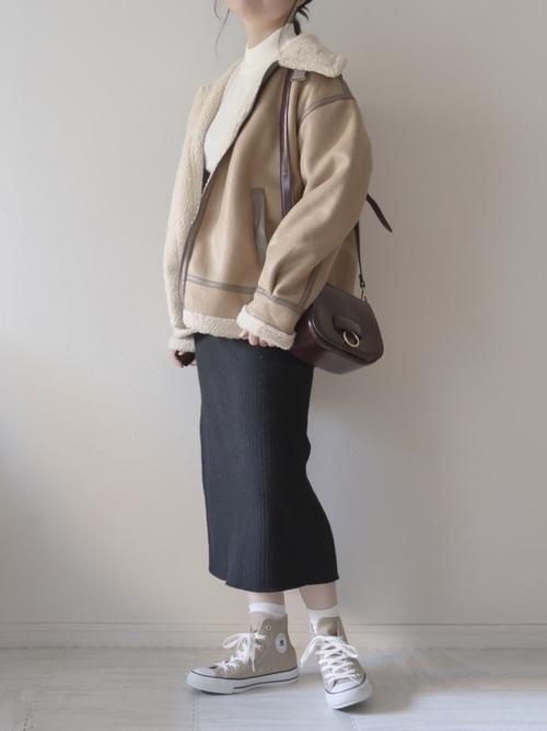 ユニクロのリブタイトスカート