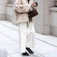 ワイドパンツ×ブーツの冬コーデ【2021】トレンドを押さえた足元のおしゃれとは?
