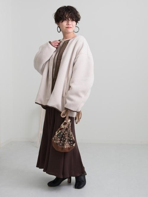 [Ambre Neige] ヴィンテージサテンスカート/サテンマーメイドスカート/【WEB/EC限定商品】