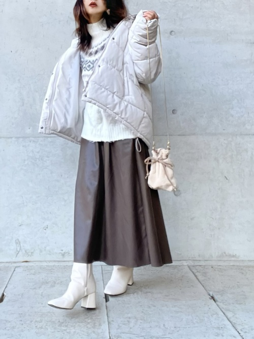 GUレザースカート