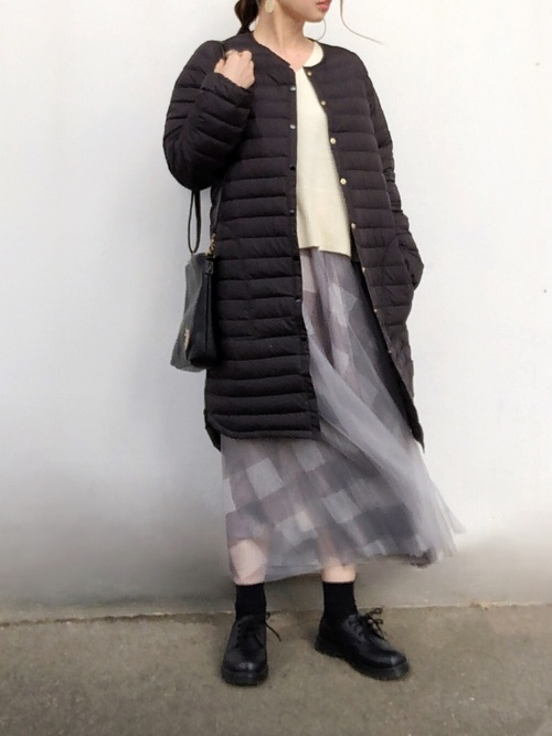 [Bonjour Sagan] チェックチュールスカート【ZOZO限定アイテム】