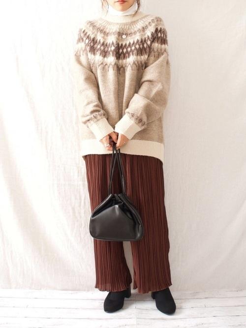 しまむらのノルディックセーター